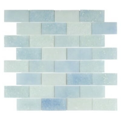 Lakeview 14 x 16 Glass Mosaic Tile in Antigua