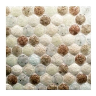 Lakeview 11.40 x 11 Glass Mosaic Tile in Drop Torrent