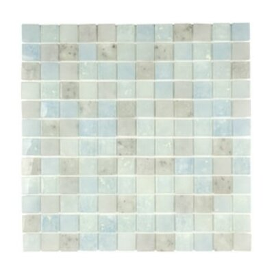 Lakeview 1 x 1 Glass Mosaic Tile in Barbados