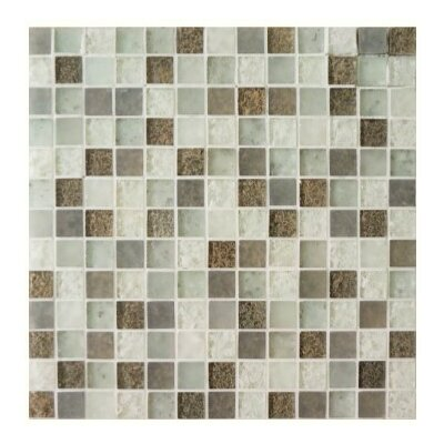 Lakeview 1 x 1 Glass Mosaic Tile in St Barth