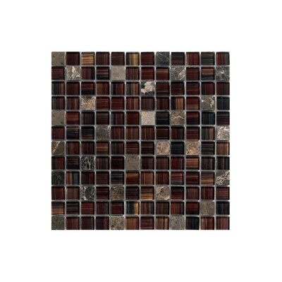 12 x 12 Glass Mosaic Tile in Brown