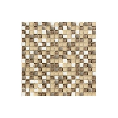 12 x 12 Glass Mosaic Tile in Beige