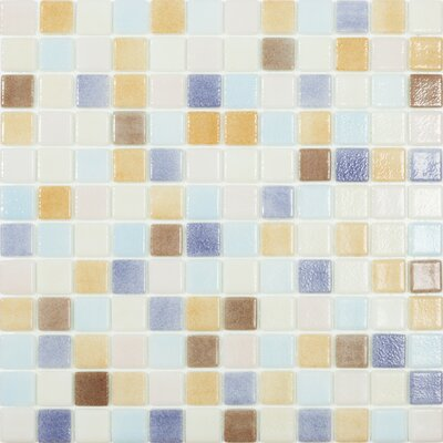 Beach Pastel 1 x 1 Glass Mosaic Tile