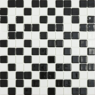 Beach 1 x 1 Glass Mosaic Tile in 2 Color Blend