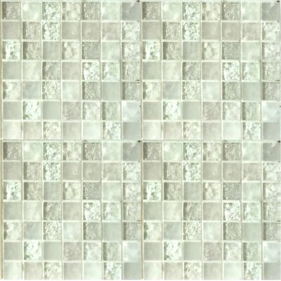 Lakeview 1 x 1 Glass Mosaic Tile in Nevis