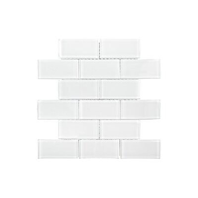 Winter Solstice 9.63 x 11.63 Glacier Tile in White