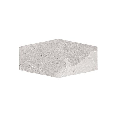 Misty Harbor 9.5 x 19.25 Field Hexagon Tile in Gray