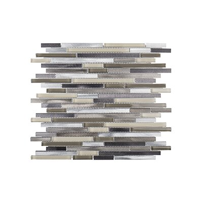 Coastal Forest 11.25 x 11.75 Pyritte Haze Mosaic Tile in White/Beige