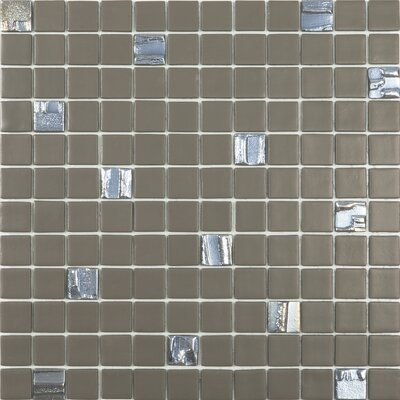Pecan Pie 1 x 1 Glass Mosaic Tile in Brown
