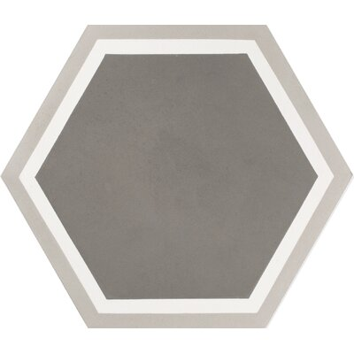 Mediterranea Sor I 8 x 8 Quarry Hand-Painted Tile in Gray