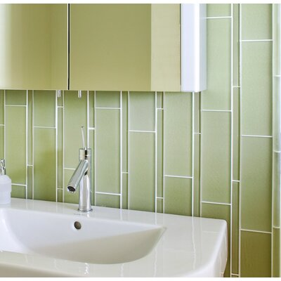 Avenue Glass Random Sized Glass Mosaic Tile in Moss