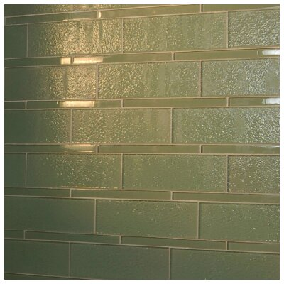 Avenue Glass Random Sized Glass Mosaic Tile in Tortuga Green