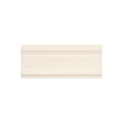 Coastal Forest 2.5 x 6 Crown Biscuit Ceramic Tile in White