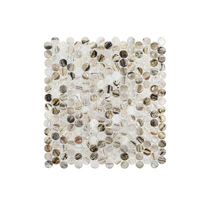 Coastal Forest 12.38 x 12.88 Wishing Well Mosaic Tile in Beige
