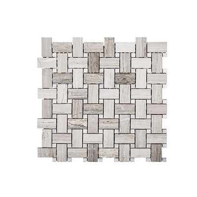 Misty Harbor 12 x 12 Mount Olympus Mosaic Tile in Gray
