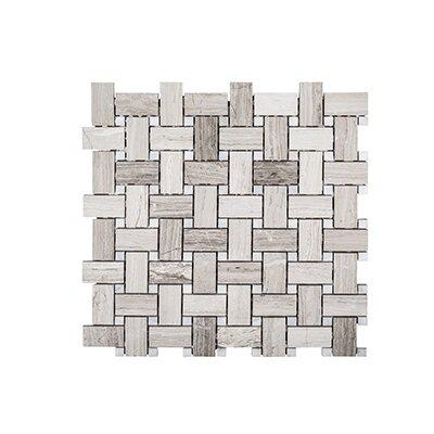 Misty Harbor 12 x 12 Mount Olympus Mosaic Tile in Gray