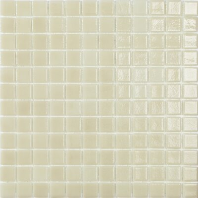 Mediterranean Sunrise 1 x 1 Glass Mosaic Tile in Beige