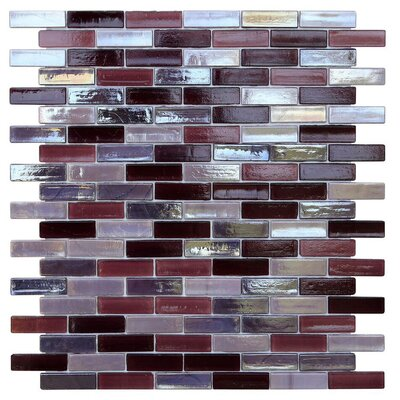 Opal 0.63 x 1.88 Glass Mosaic Tile in Sugar Plum