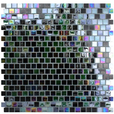 Opal 0.63 x 0.63 Glass Mosaic Tile in Cosmos