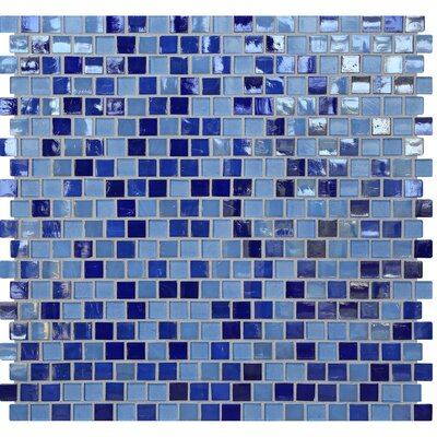 Opal 0.63 x 0.63 Glass Mosaic Tile in Odyssey