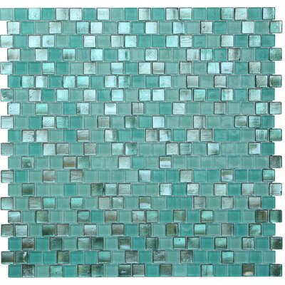 Opal 0.63 x 0.63 Glass Mosaic Tile in Biscayne Bay