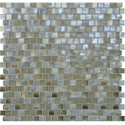 Opal 0.63 x 0.63 Glass Mosaic Tile in Metallic Sand