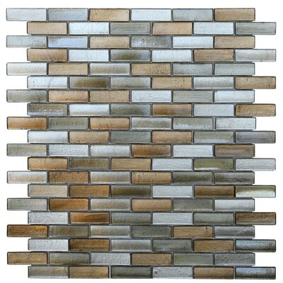 Opal 0.63 x 1.88 Glass Mosaic Tile in Gatsby