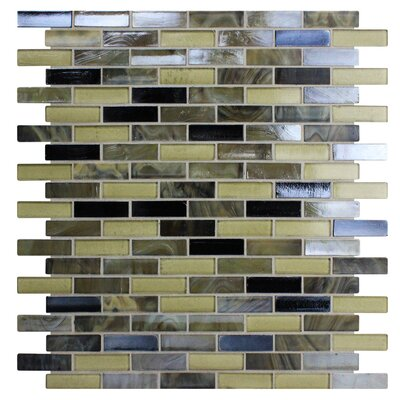 Opal 0.63 x 1.88 Glass Mosaic Tile in Tortoise Shell