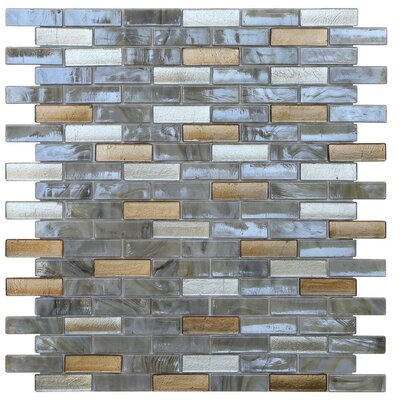 Opal 0.63 x 1.88 Glass Mosaic Tile in Abalone