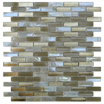 Opal 0.63 x 1.88 Glass Mosaic Tile in Metallic Sand