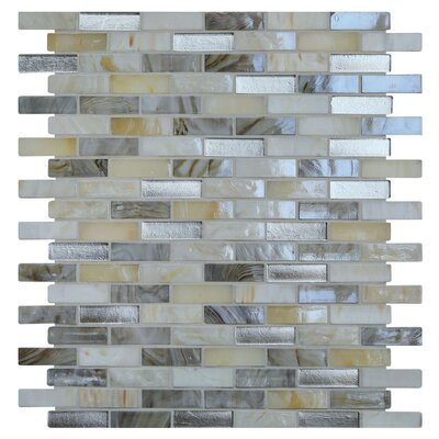 Opal 0.63 x 1.88 Glass Mosaic Tile in Seashell