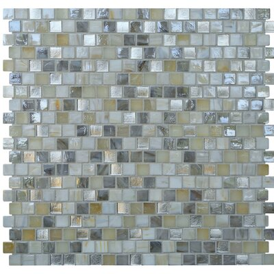 Opal 0.63 x 0.63 Glass Mosaic Tile in Seashell