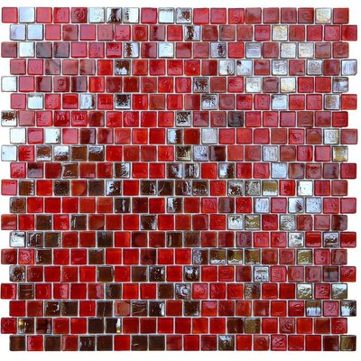 Opal 0.63 x 0.63 Glass Mosaic Tile in Lolita