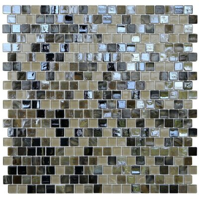 Opal 0.63 x 0.63 Glass Mosaic Tile in Tortoise Shell