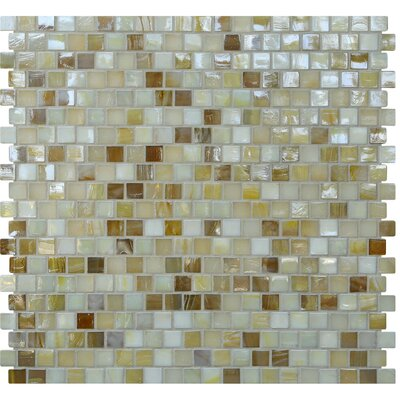 Opal 0.63 x 0.63 Glass Mosaic Tile in Cr�me Brulee