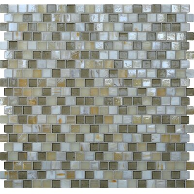 Opal 0.63 x 0.63 Glass Mosaic Tile in Casablanca