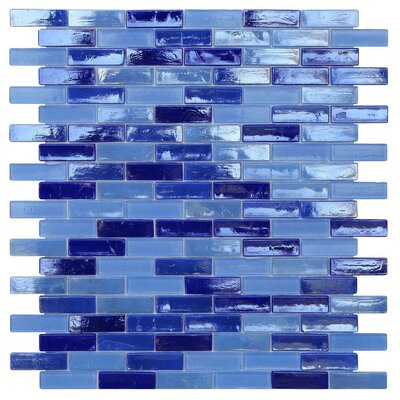 Opal 0.63 x 1.88 Glass Mosaic Tile in Odyssey