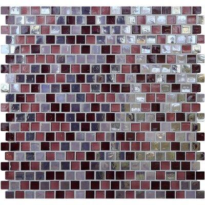 Opal 0.63 x 0.63 Glass Mosaic Tile in Sugar Plum