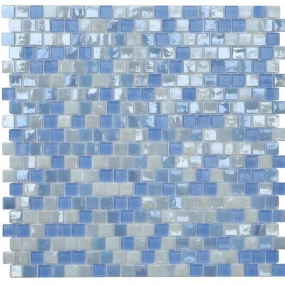 Opal 0.63 x 0.63 Glass Mosaic Tile in Victoria Falls