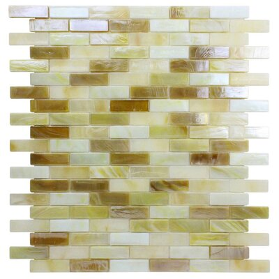 Opal 0.63 x 1.88 Glass Mosaic Tile in Cr�me Brulee
