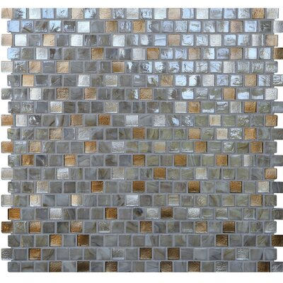 Opal 0.63 x 0.63 Glass Mosaic Tile in Abalone