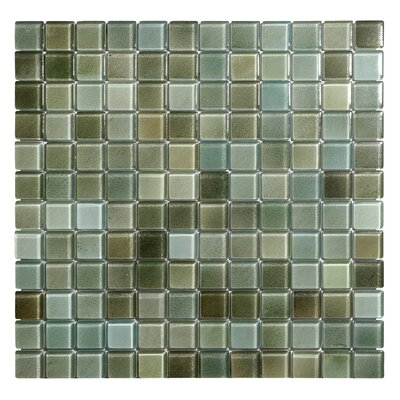 Hi-Fi 1 x 1 Glass Mosaic Tile in Green