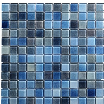 Hi-Fi 1 x 1 Glass Mosaic Tile in Blue