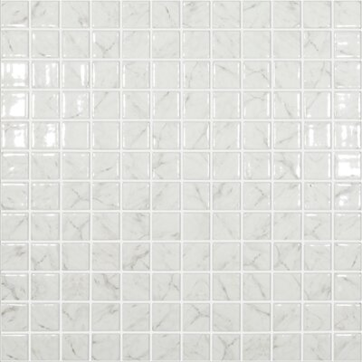 Carrera Traditional 1 x 1 Glass Mosaic Tile in White