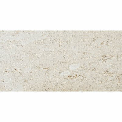 12 x 24 Limestone Field Tile in Fossil Stone Tumbled
