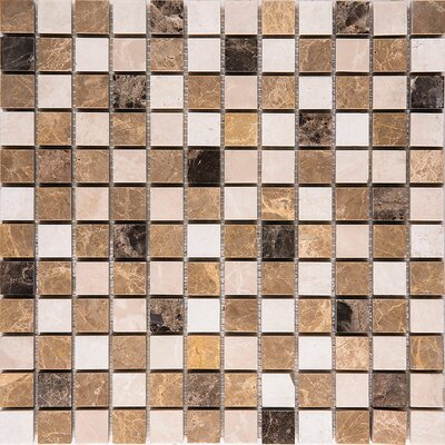 Valencia Mix Marble 1 x 1 Stone Mosaic Tile Polished