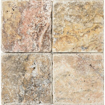 Scabos Tumbled 4 x 4 Stone Tile