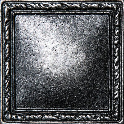 1 x 1 Olive Branch Deco Accent Tile in Pewter