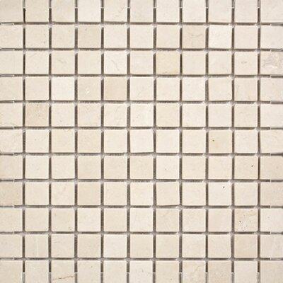 Crema Marfil Tumbled 1 x 1 Stone Mosaic Tile