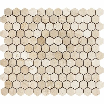 Crema Marfil Hexagon 1 x 1 Stone Mosaic Tile Polished